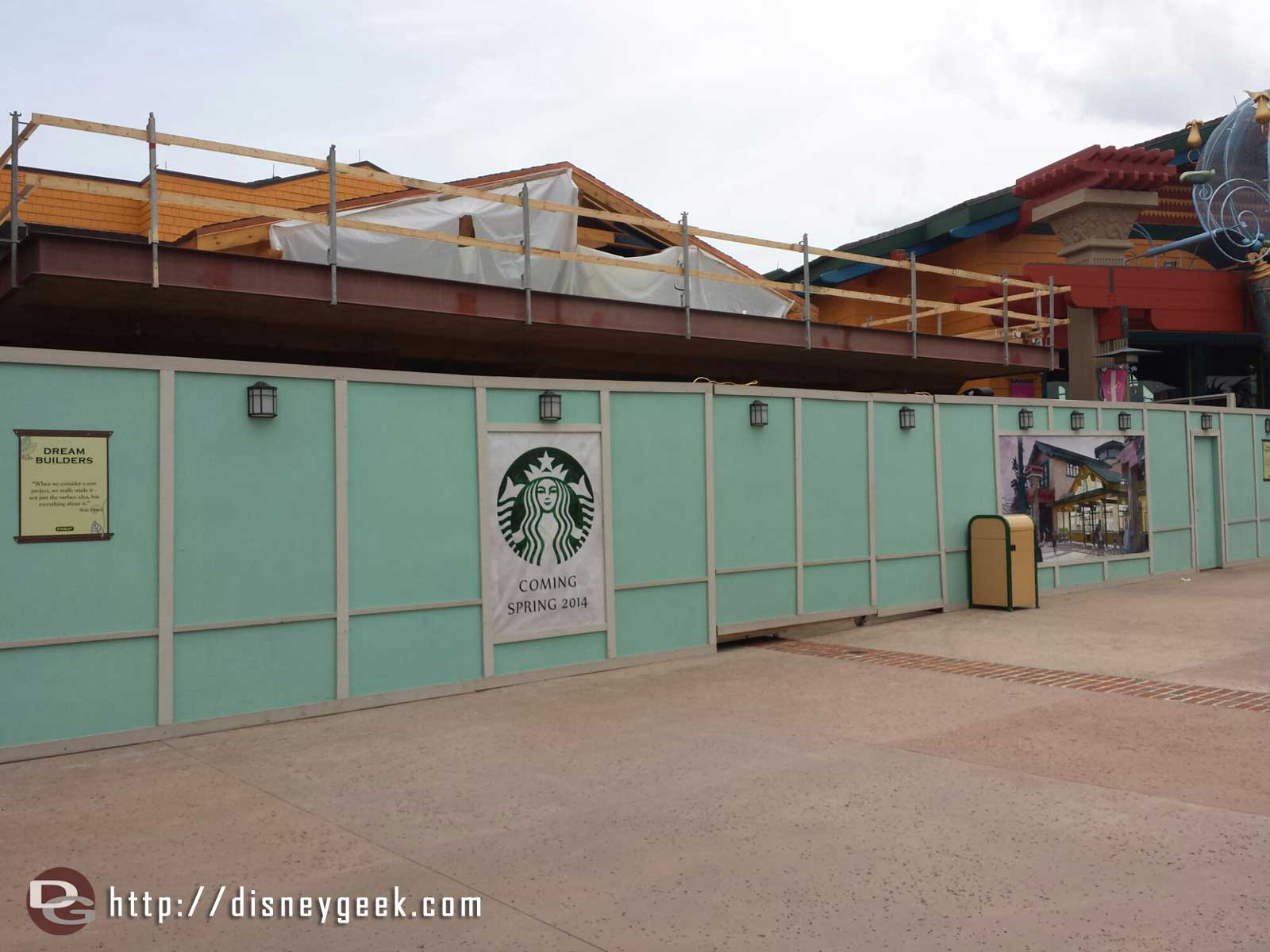 Downtown Disney Starbucks near World of Disney opens Spring 2014 according to the sign