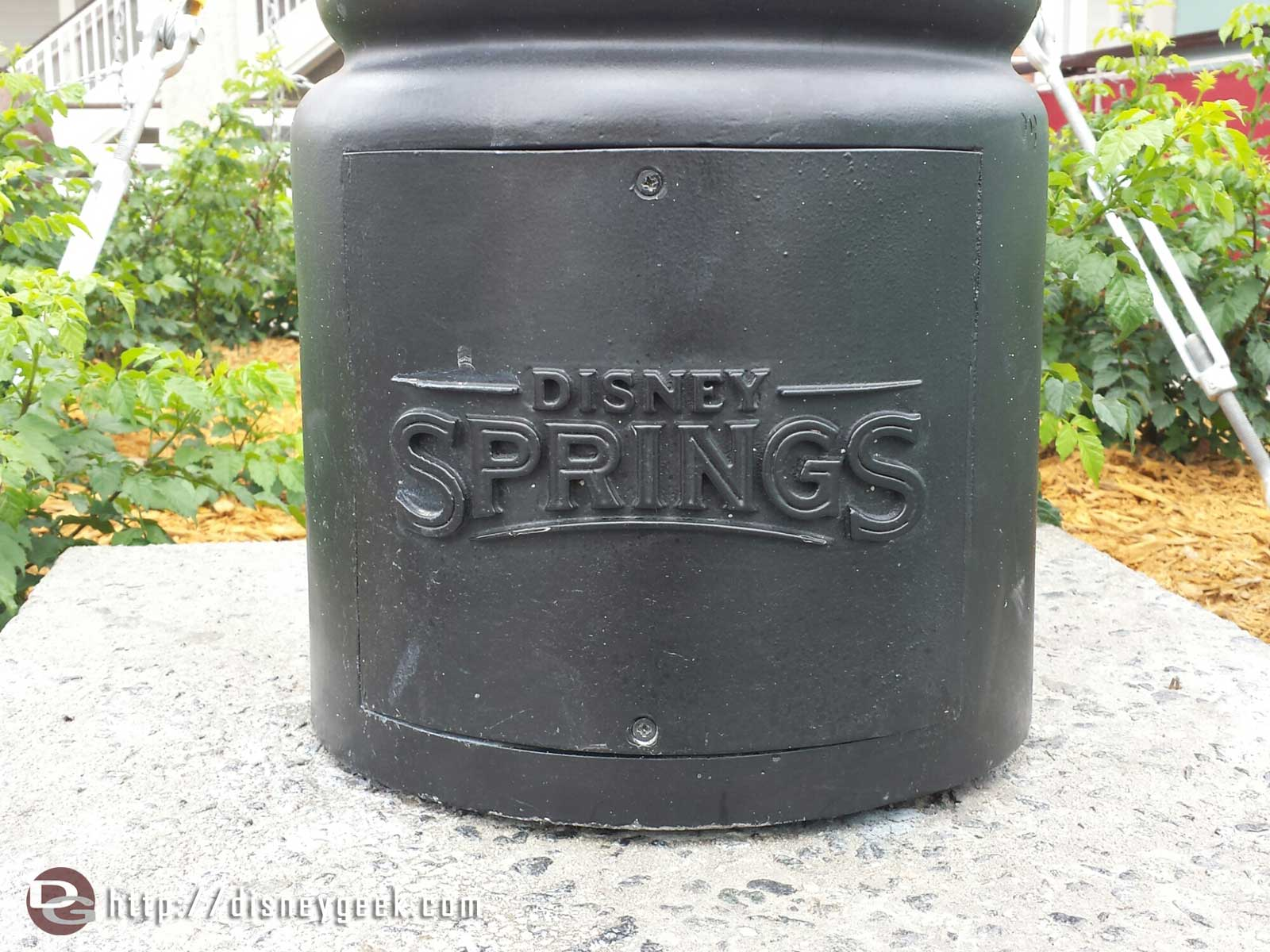 The base of the Disney Springs lamppost