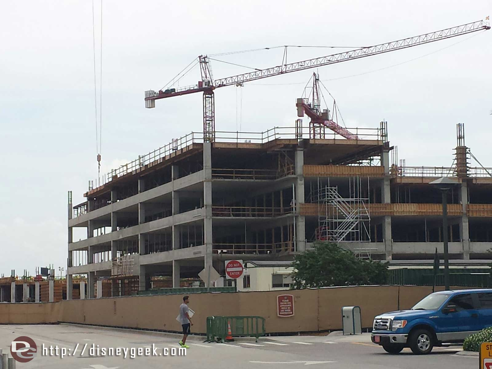 A better look at the Disney Springs parking garage that is under construction
