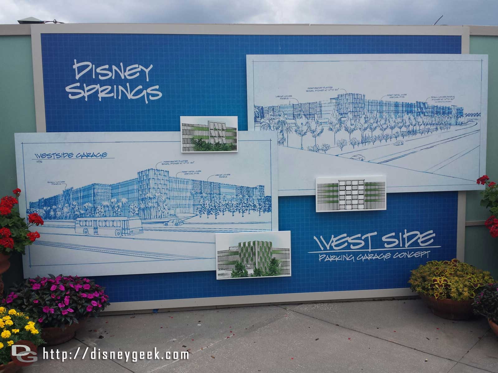 Concept art for the Disney Springs West Side parking structure
