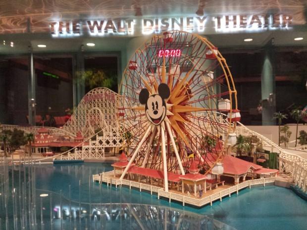 A model of Paradise Pier at Disney California Adventure