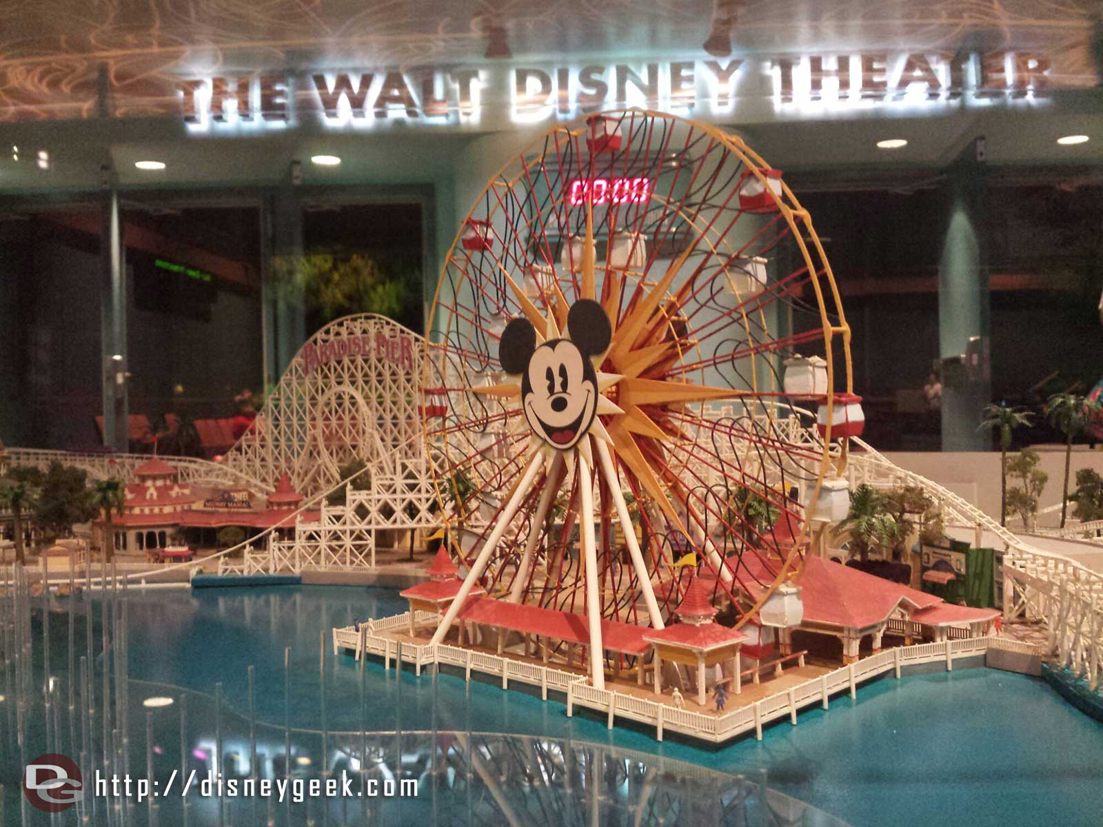 A model of Paradise Pier at Disney California Adventure