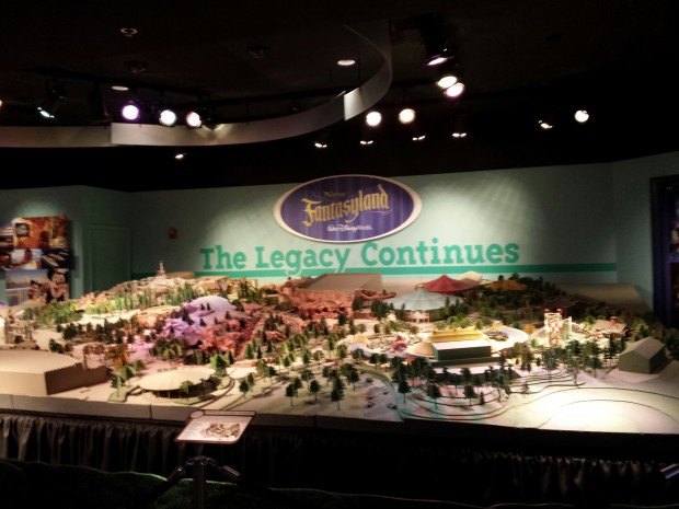 A model of the New Fantasyland portion of the Magic Kingdom