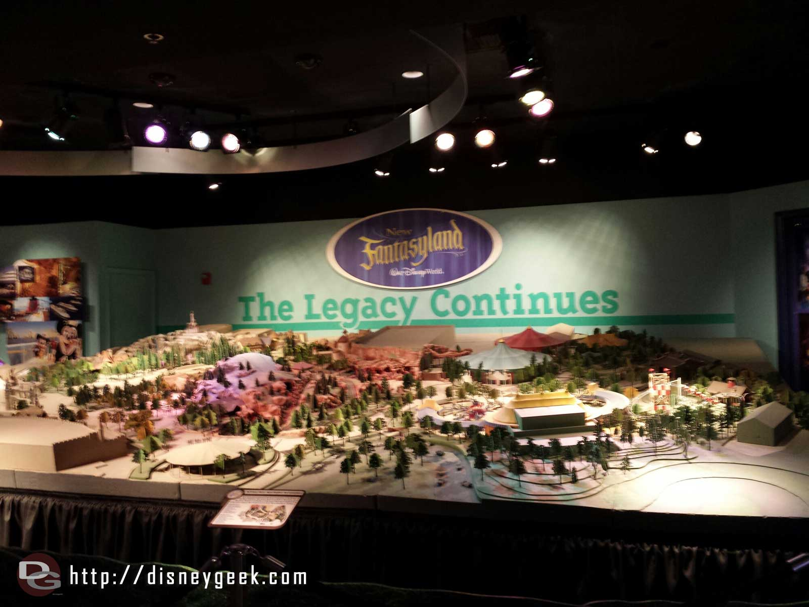 WDW Magic Kingdom new Fantasyland model is also still there