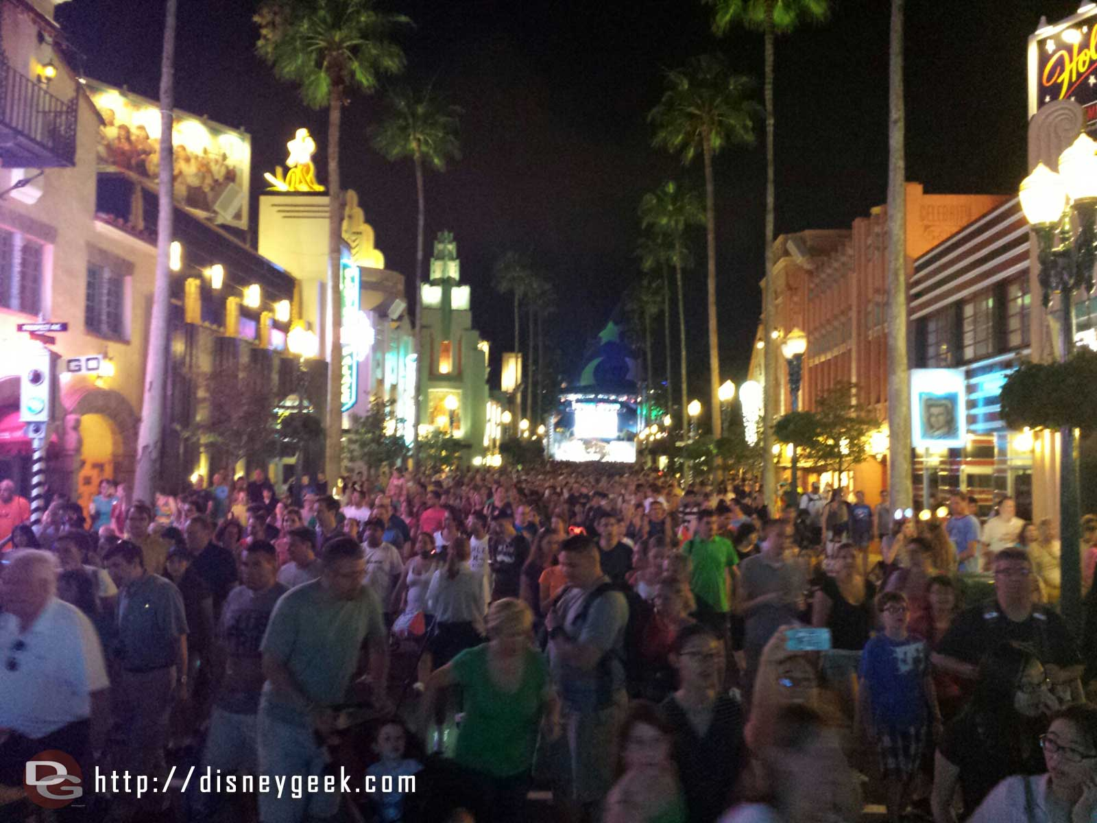 Hollywood Blvd after the fireworks – Disney's Hollywood Studios
