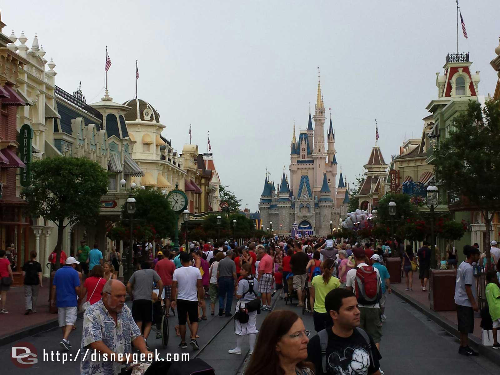 Arriving at the Magic Kingdom, Main Street USA #WDW