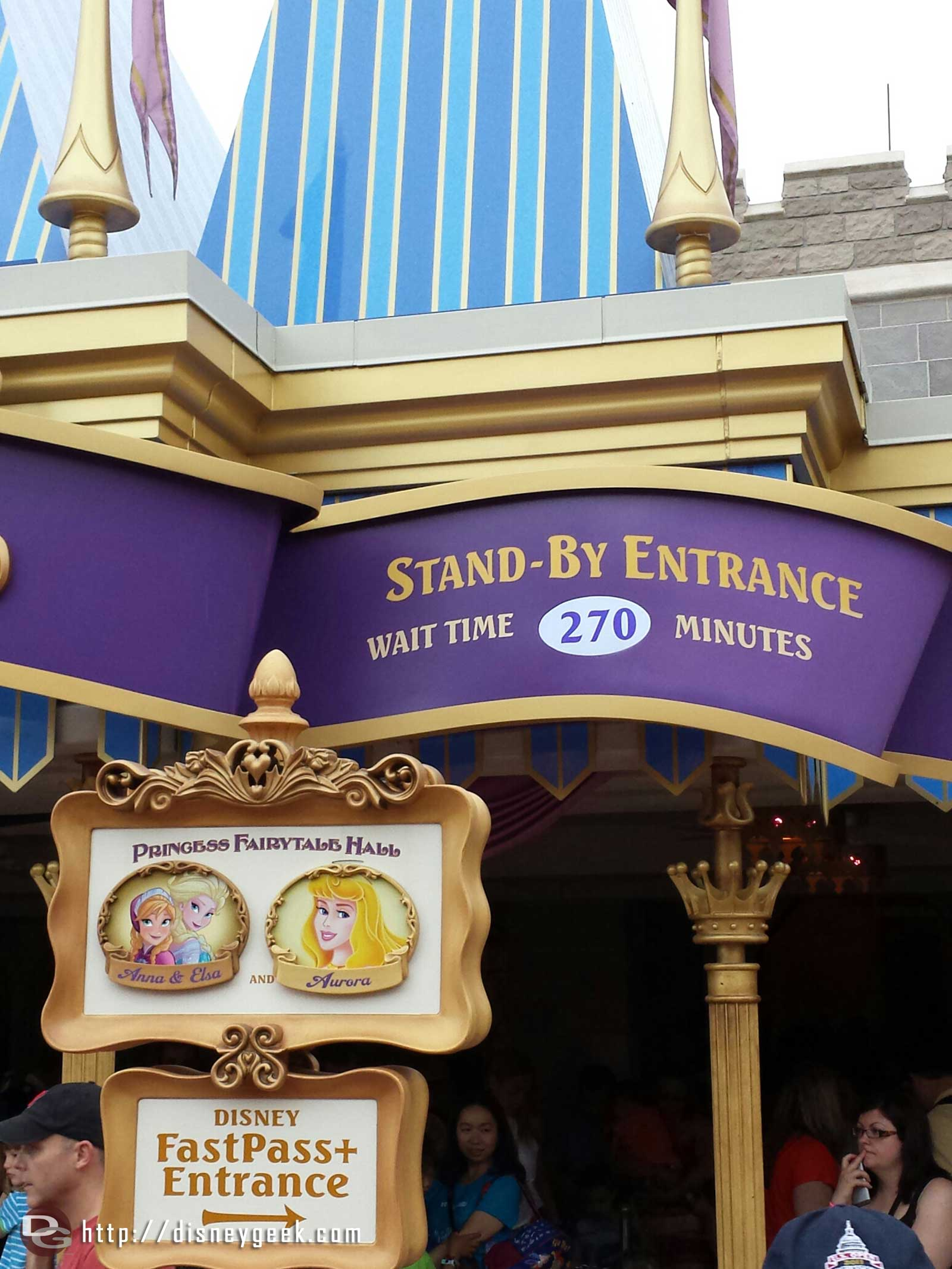 270 min to meet the Frozen sisters.. The incoming storm has had no effect on the wait