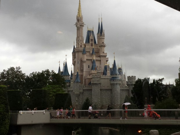 Cinderella Castle - my view for lunch today