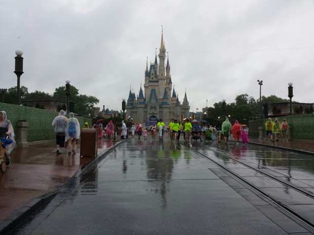 Main Street USA & Cinderella Castle in the rain this afternoon