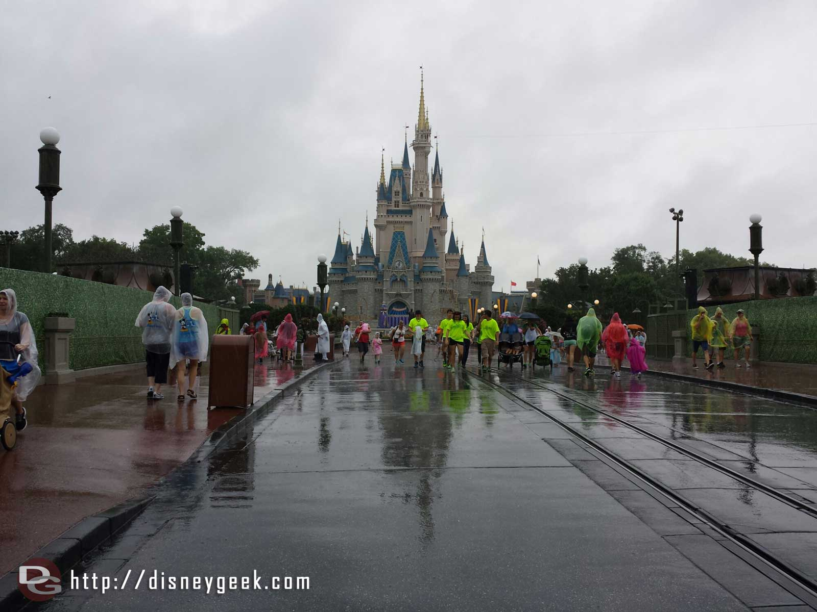 Cinderella Castle & Main Street USA … still raining