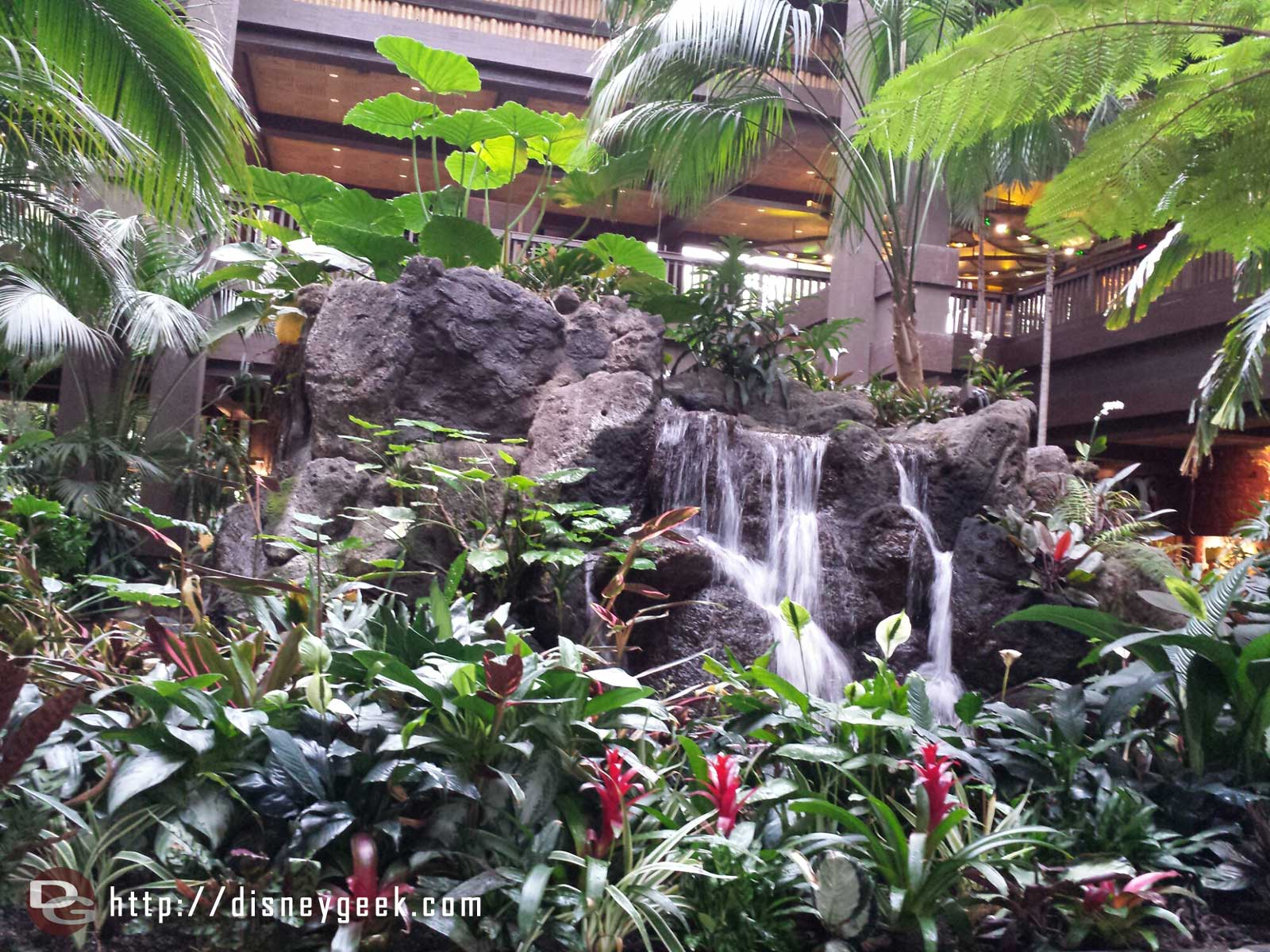 A look at the Polynesian lobby fountain before it is removed.
