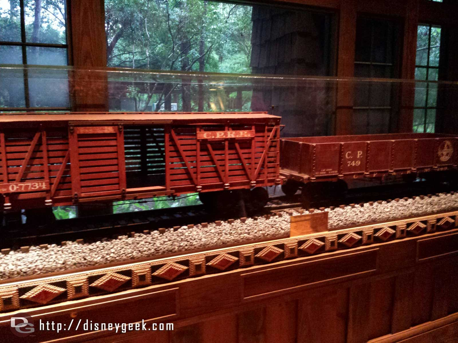 Carolwood Pacific Freight Cars at the Wilderness Lodge Villas