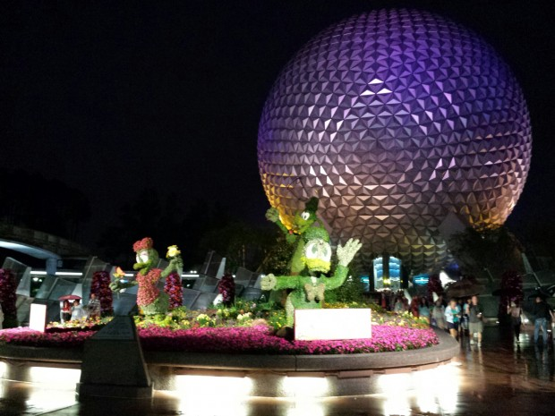 Donald, Daisy and Goofy greet you at Epcot for the International Flower & Garden Festival
