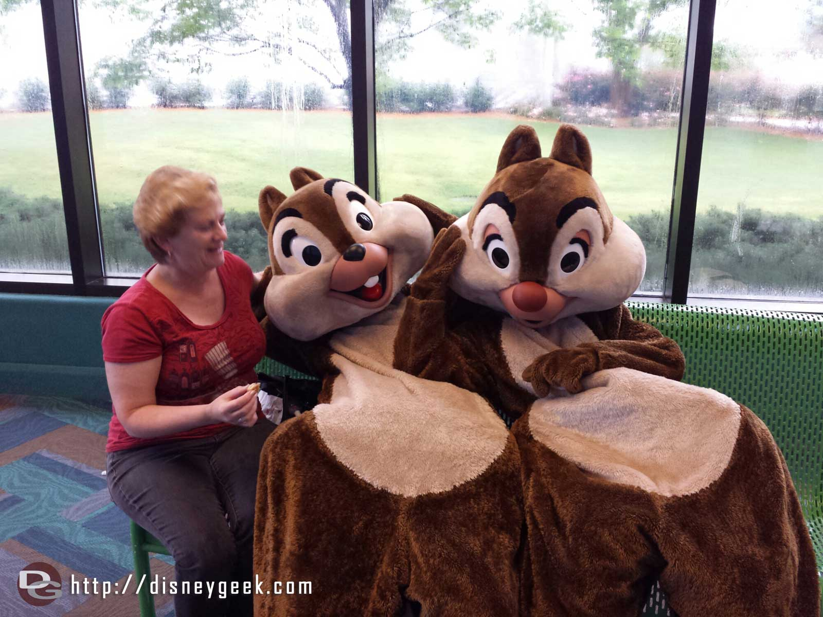 Chip & Dale hanging out with @dmk_allears at #Epcot