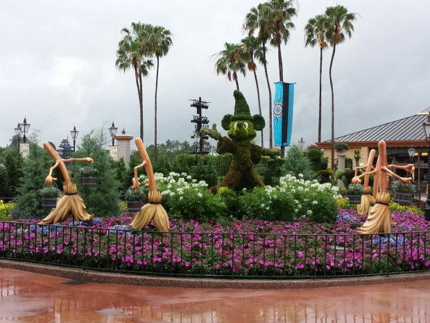 Fantasia Topiary Display featuring the Sorcerer's Apprentice Epcot International Flower & Garden Festival