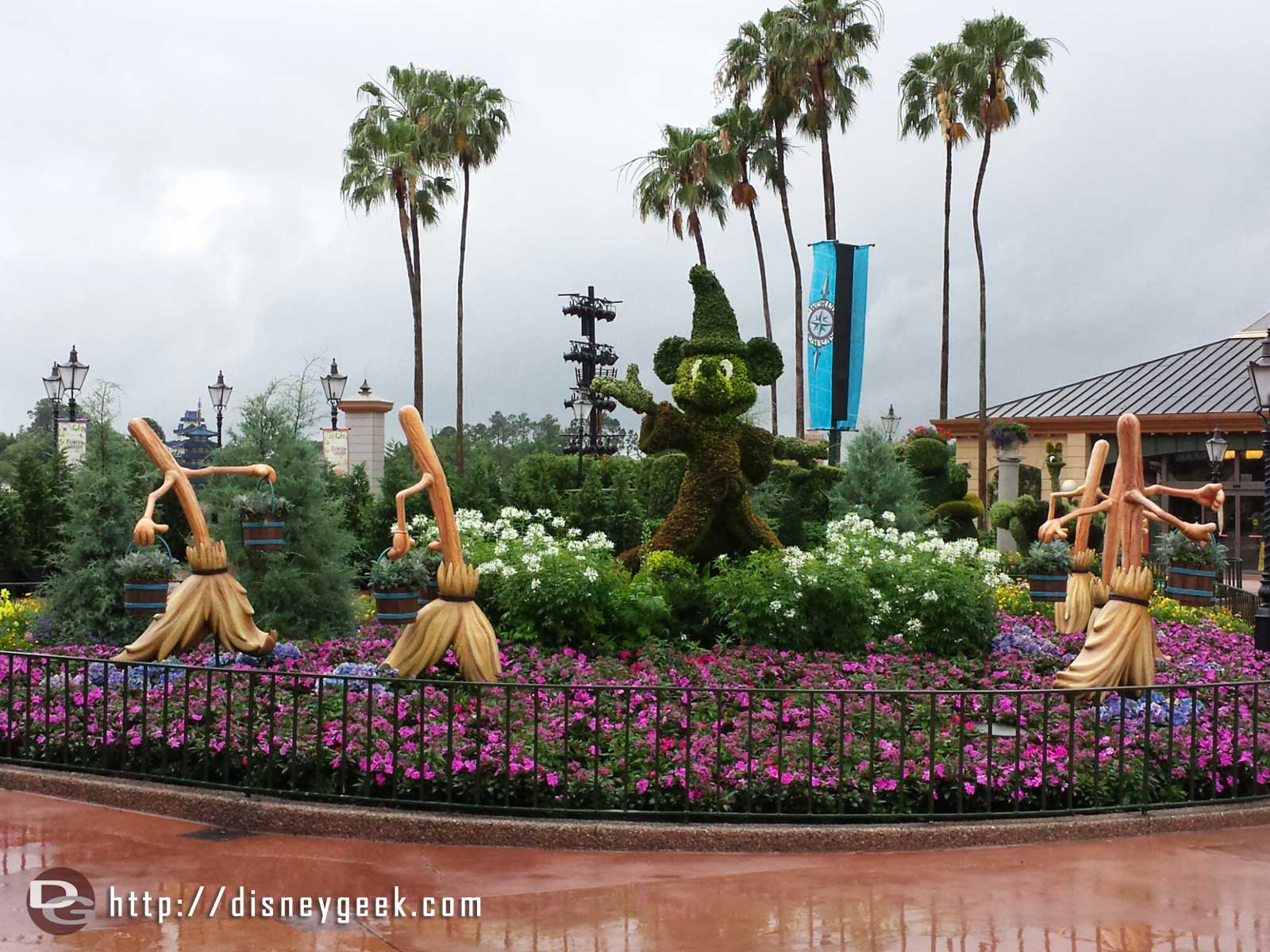 Fantasia Sorcerers Apprentice topiaries –  Epcot International Flower & Garden Festival