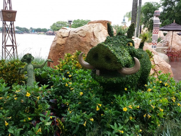 Timon and Pumba topiaries  Epcot International Flower & Garden Festival