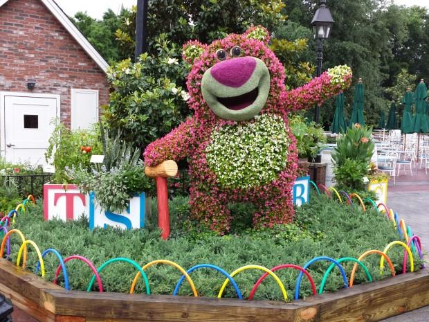 Lotso Topiary near the American Adventure -  Epcot International Flower & Garden Festival