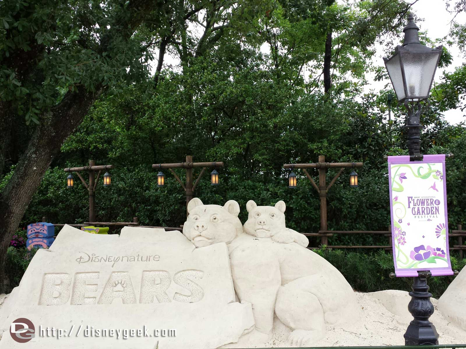 Disney Nature Bears sand sculpture - Epcot International Flower & Garden Festival
