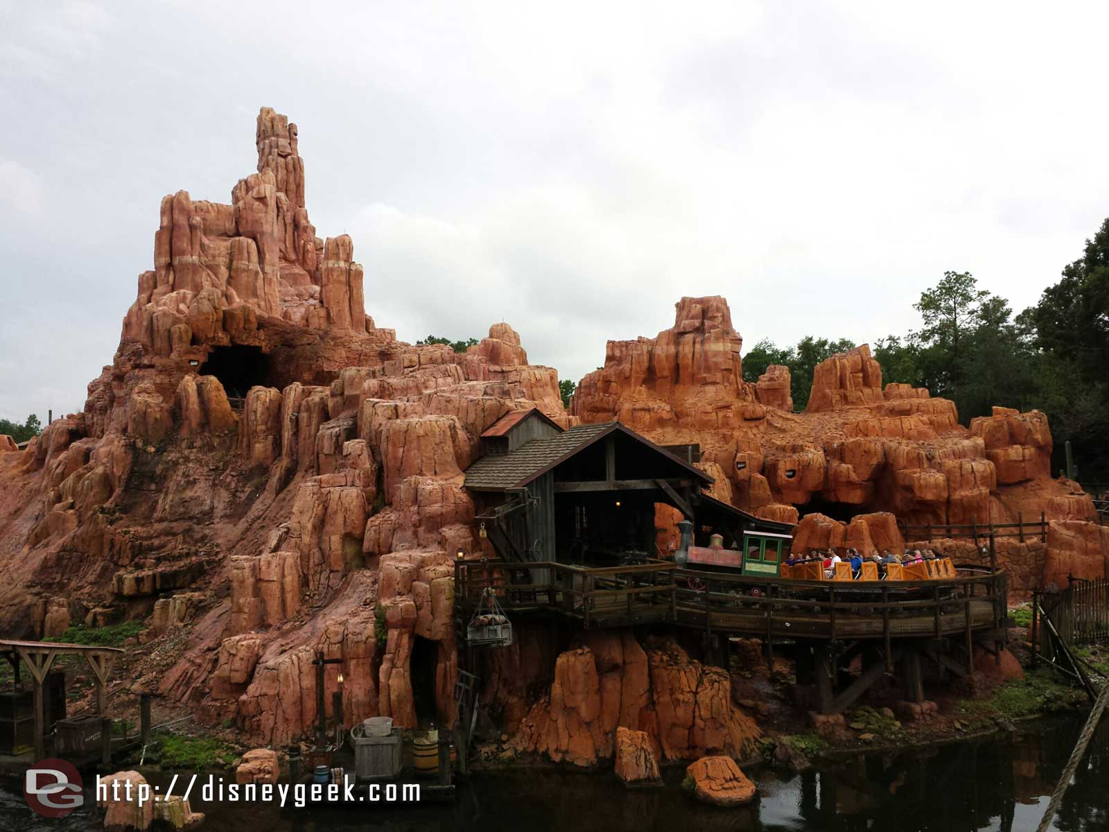 Big Thunder from the Rivers of America #WDW Magic Kingdom