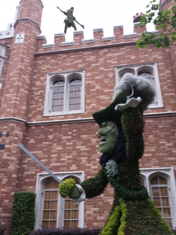 Captain Hook and Peter Pan in the UK -  Epcot International Flower & Garden Festival