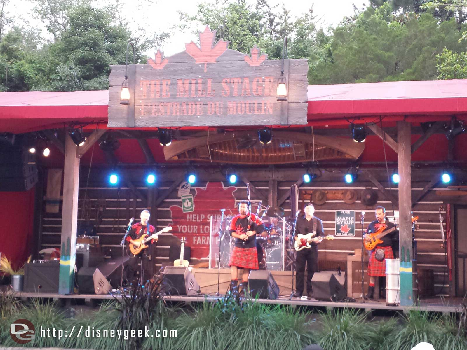 Off Kilter performing in Canada - Epcot World Showcase