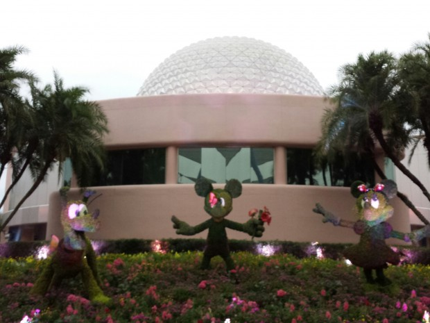 Mickey, Minnie, and Pluto Topiaries -  Epcot International Flower & Garden Festival