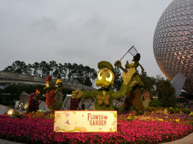 Donald topiary at the entrance to Epcot -  Epcot International Flower & Garden Festival