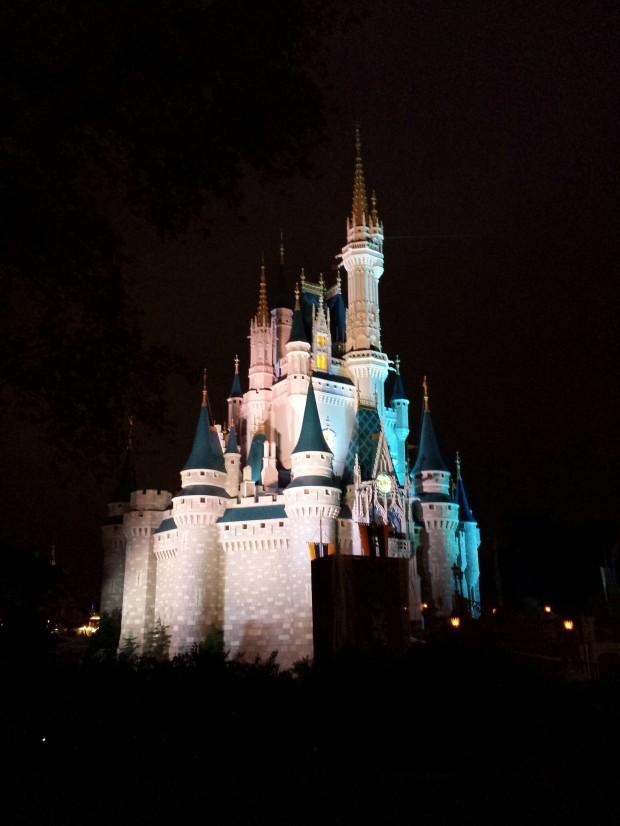 Cinderella Castle this evening.
