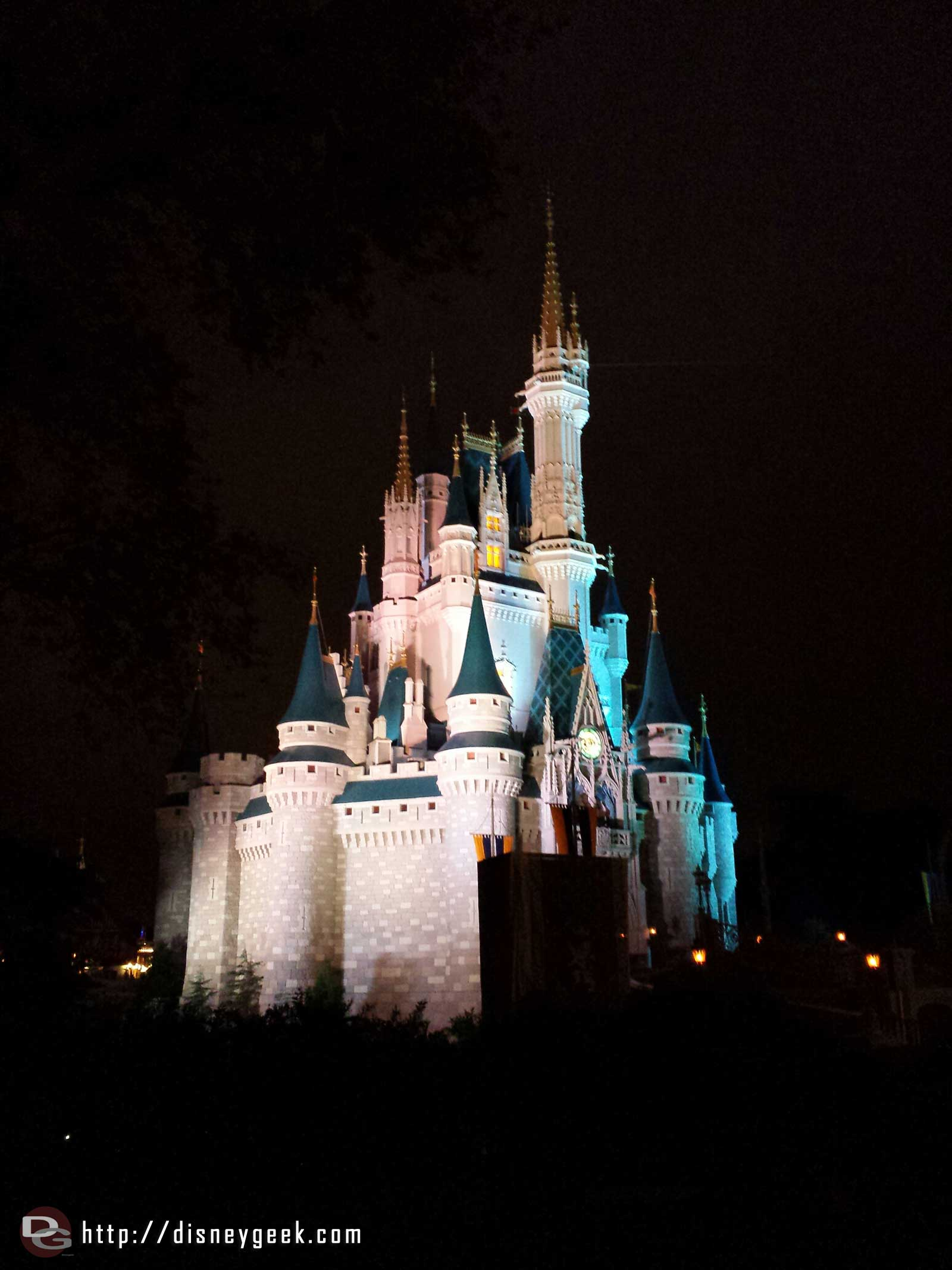 Cinderella Castle this evening #WDW