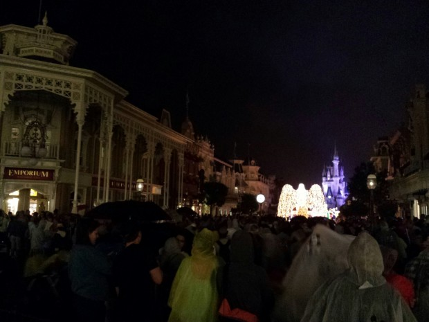 As the parade made its way up Main Street the rain started to fall harder.