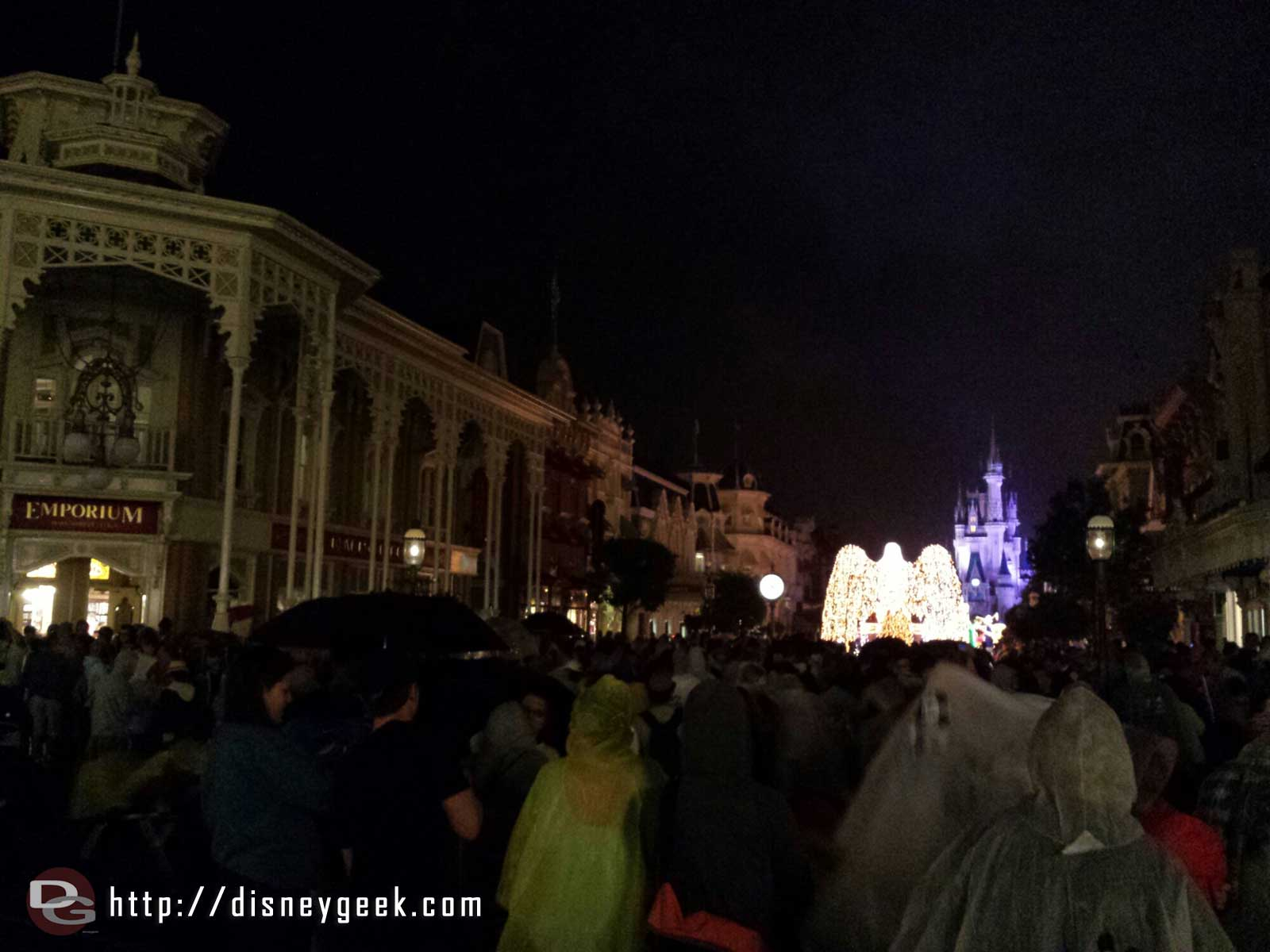As the parade moved onto Main Street the rain picked up.