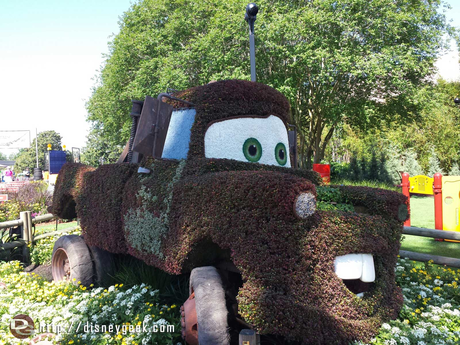 Mater topiary –  Epcot International Flower & Garden Festival