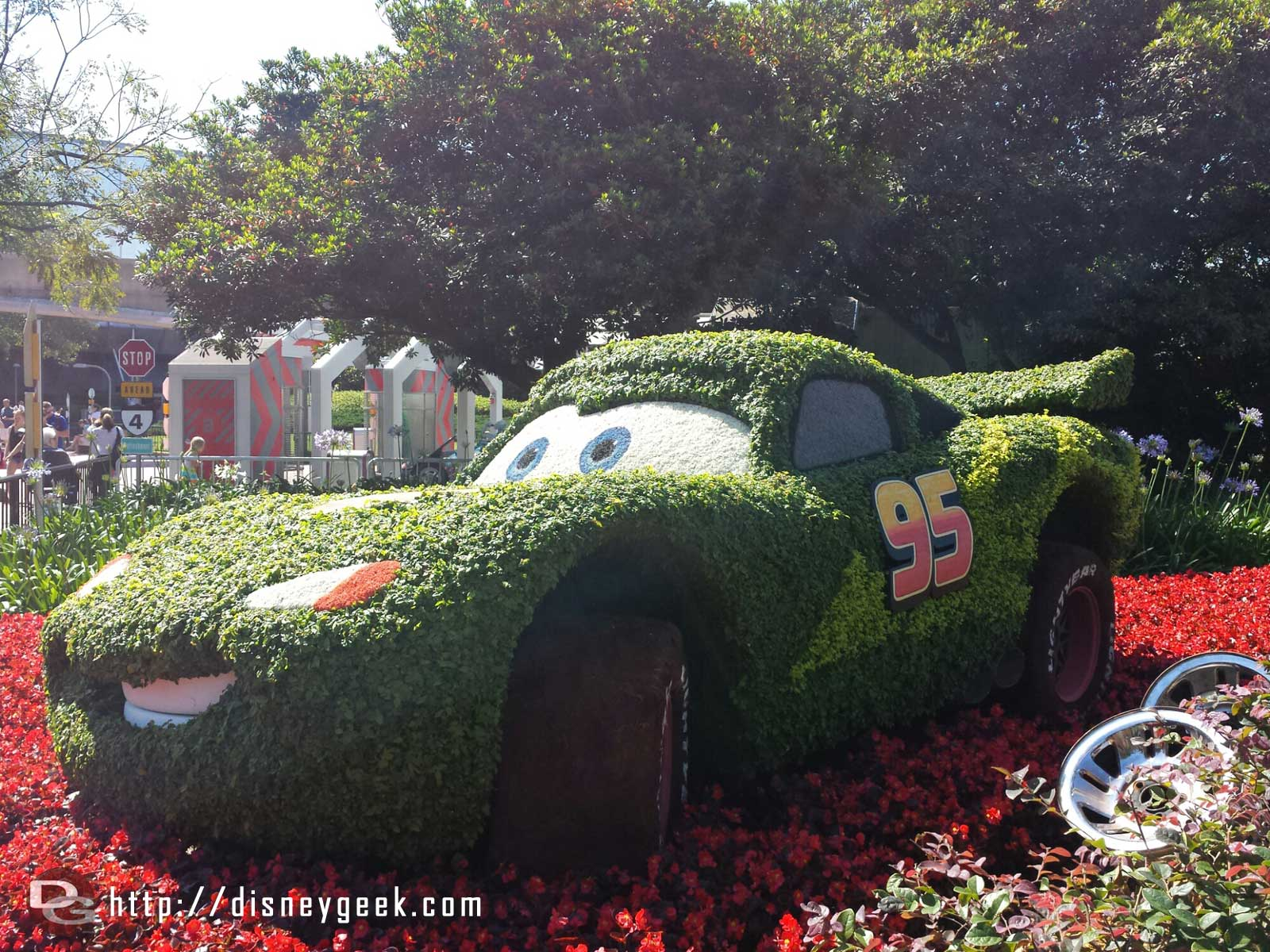 Lightning topiary –  Epcot International Flower & Garden Festival