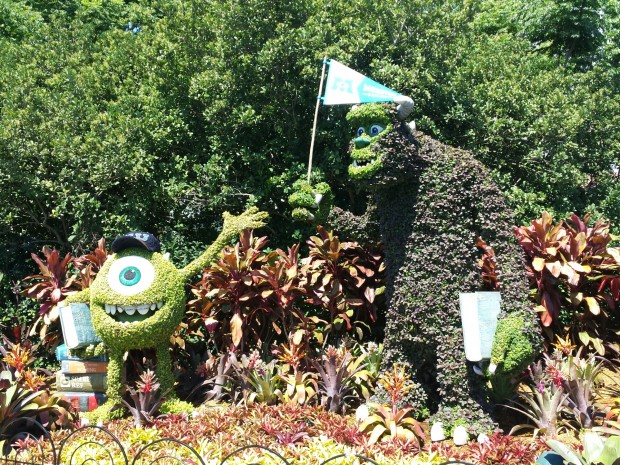Mike and Sulley from Monsters University - Epcot International Flower & Garden Festival