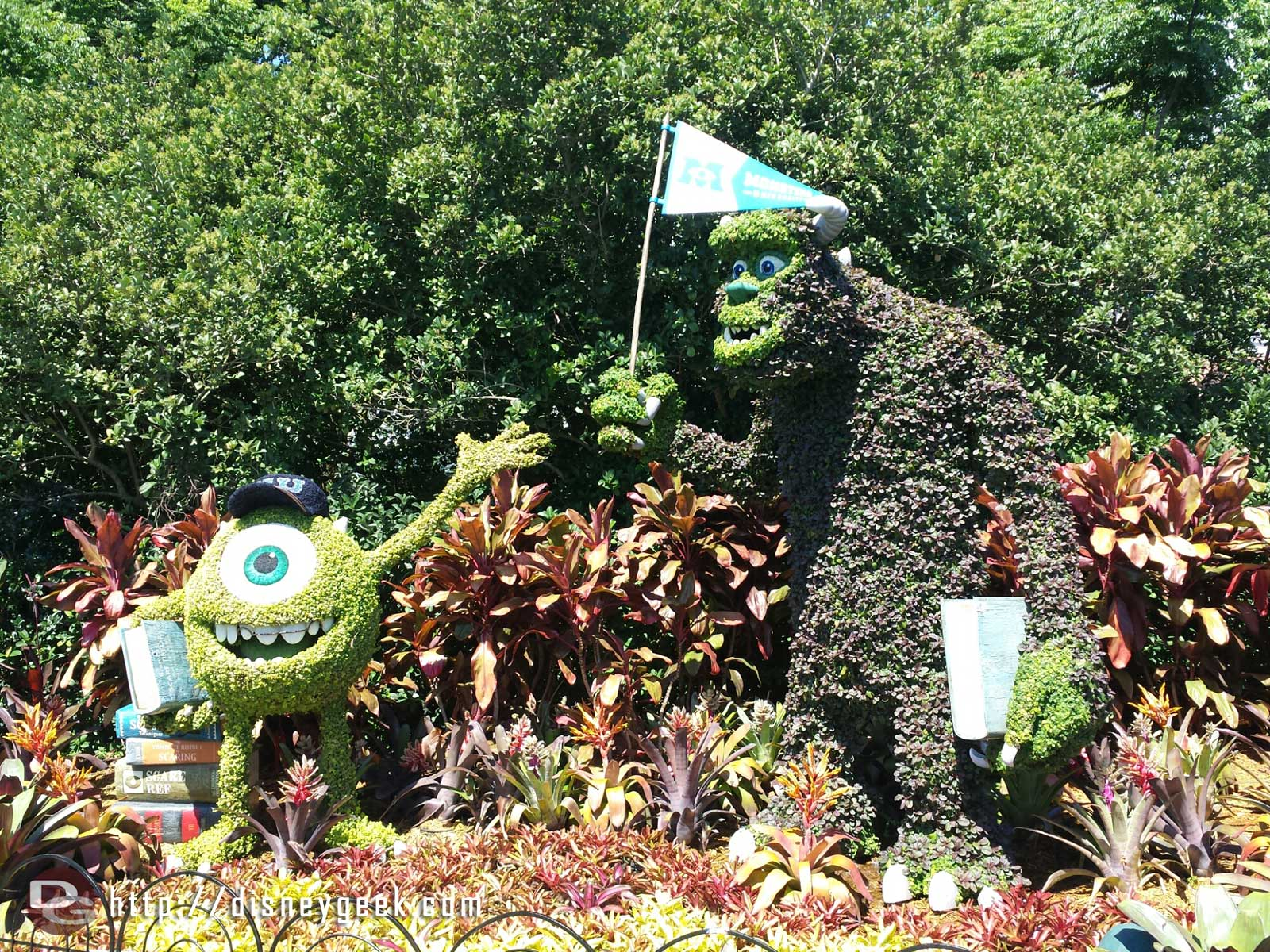 Mike & Sulley from Monsters University Topiaries    –  Epcot International Flower & Garden Festival