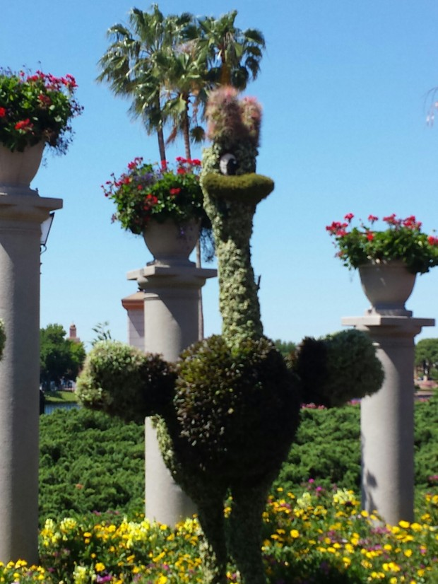 Fantasia Ostrich Topiary - Epcot International Flower & Garden Festival