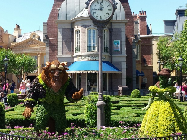 Beauty and the Beast in France - Epcot International Flower & Garden Festival