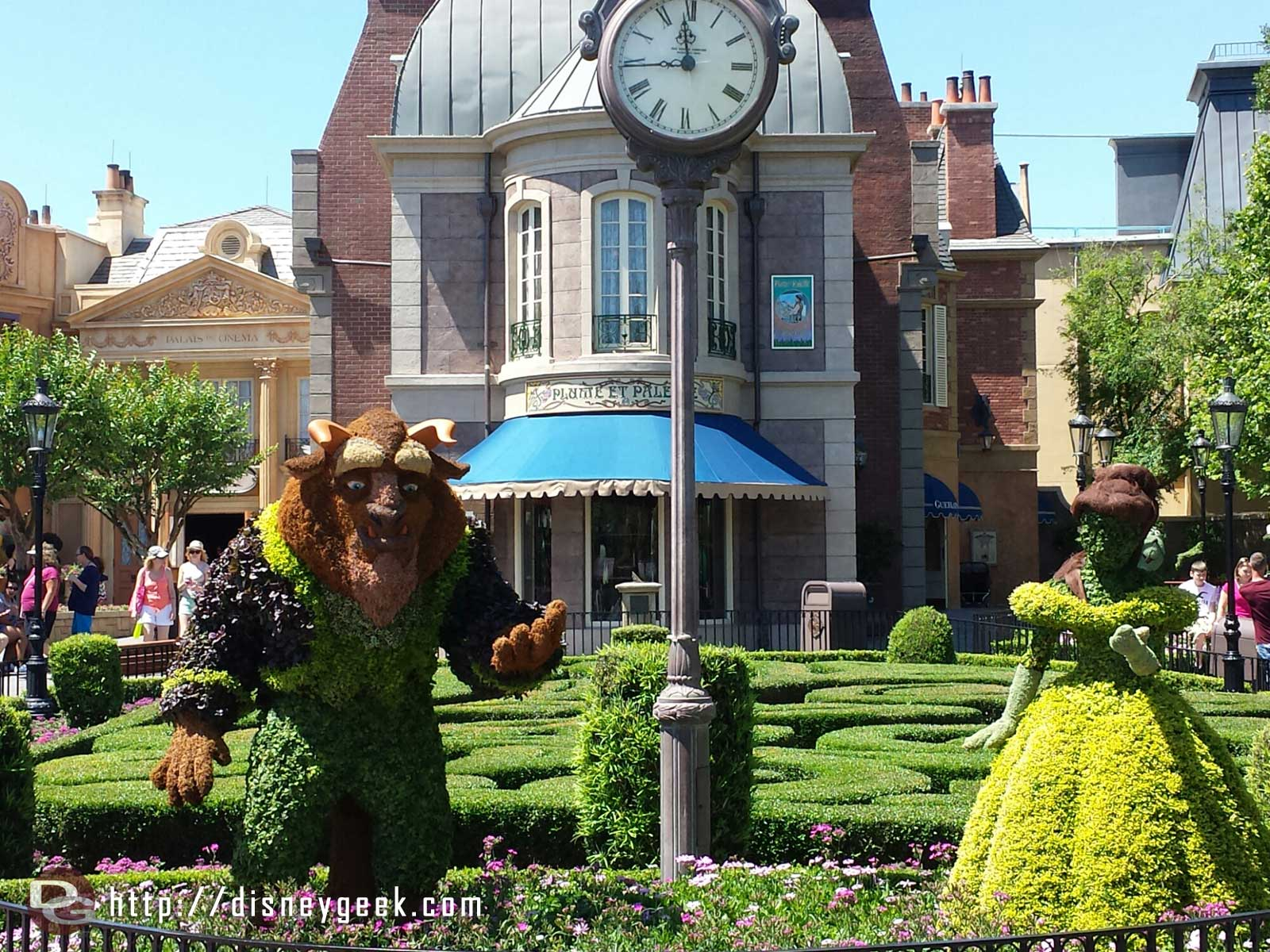 Belle & Beast topiaries in France    –  Epcot International Flower & Garden Festival
