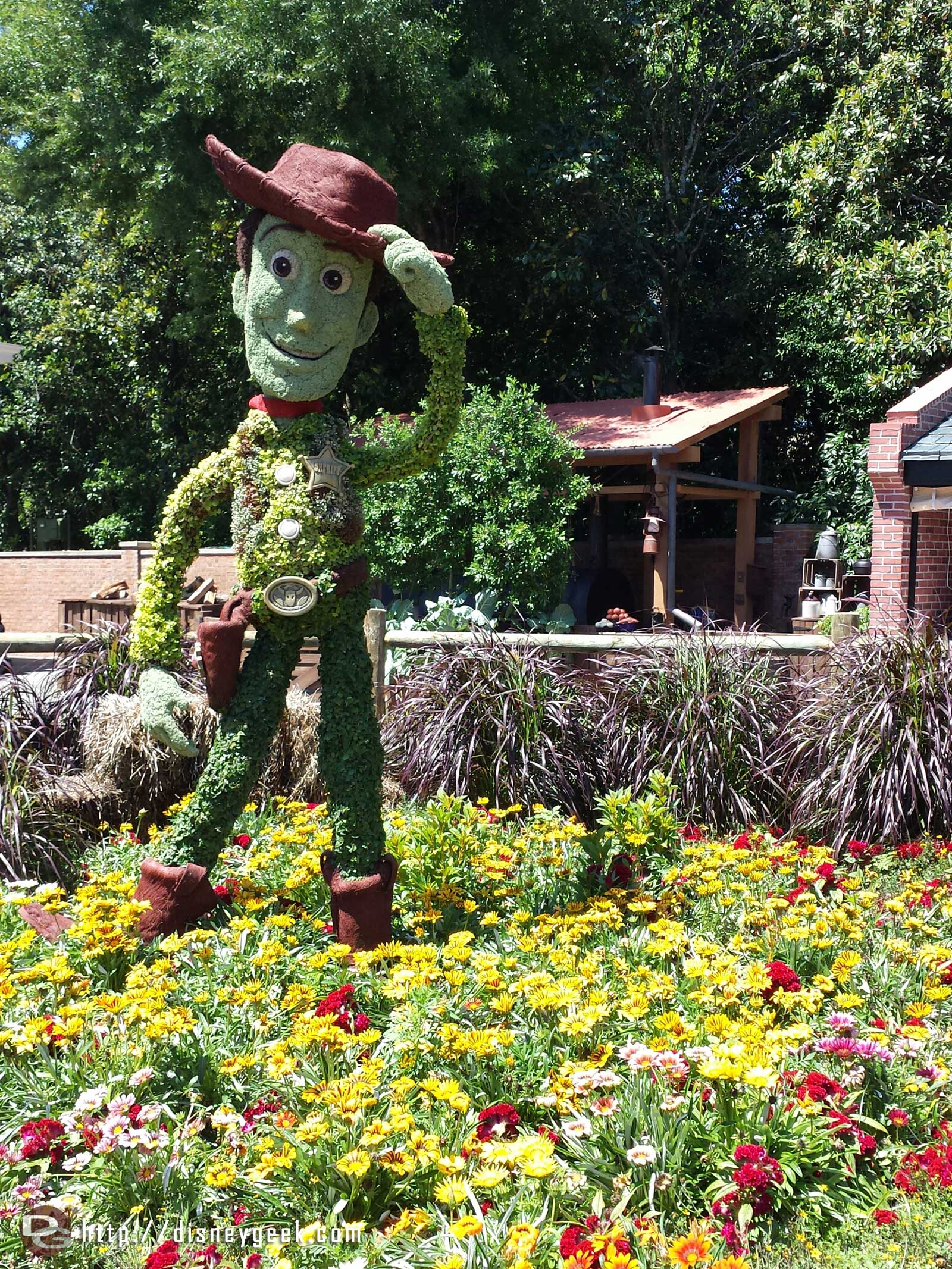 Woody topiary by the American Adventure    –  Epcot International Flower & Garden Festival