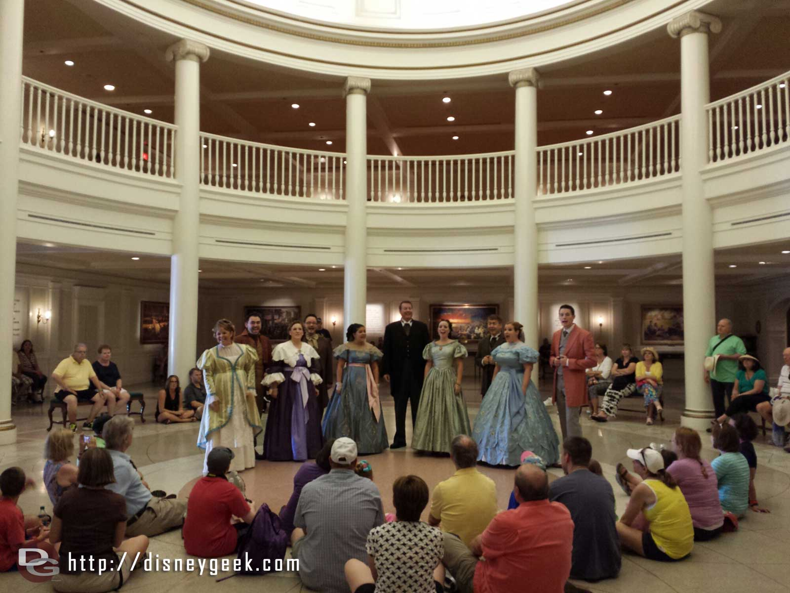 The Voices of Liberty performing in the American Adventure