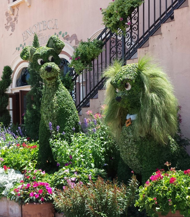 Lady & the Tramp in Italy - Epcot International Flower & Garden Festival
