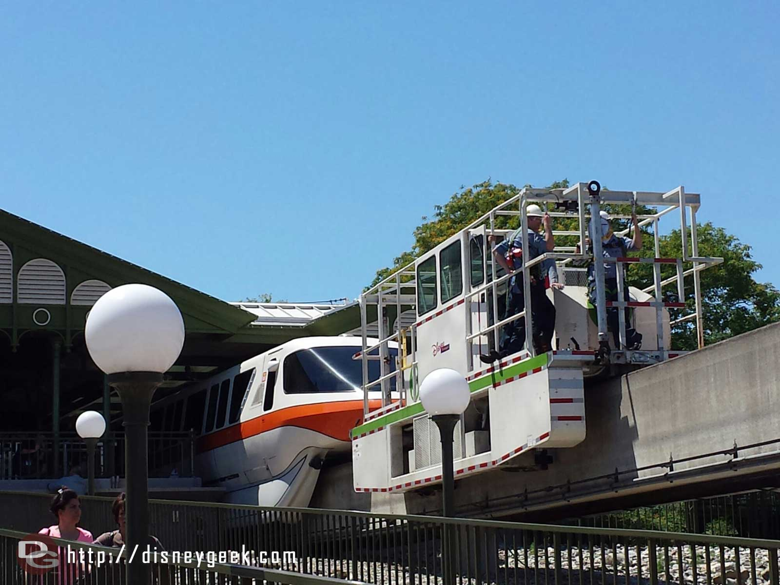 The monorail issue appears to be with Orange at the Magic Kingdom station now.
