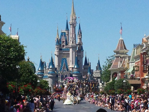 The Festival of Fantasy Parade making its way onto Main Street USA