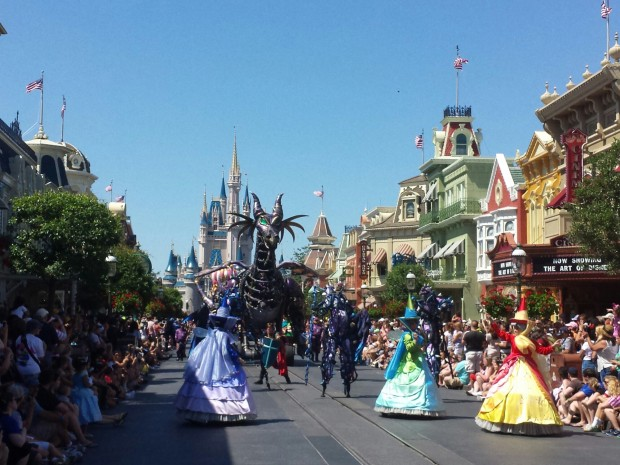 Sleeping Beauty group in the Festival of Fantasy Parade