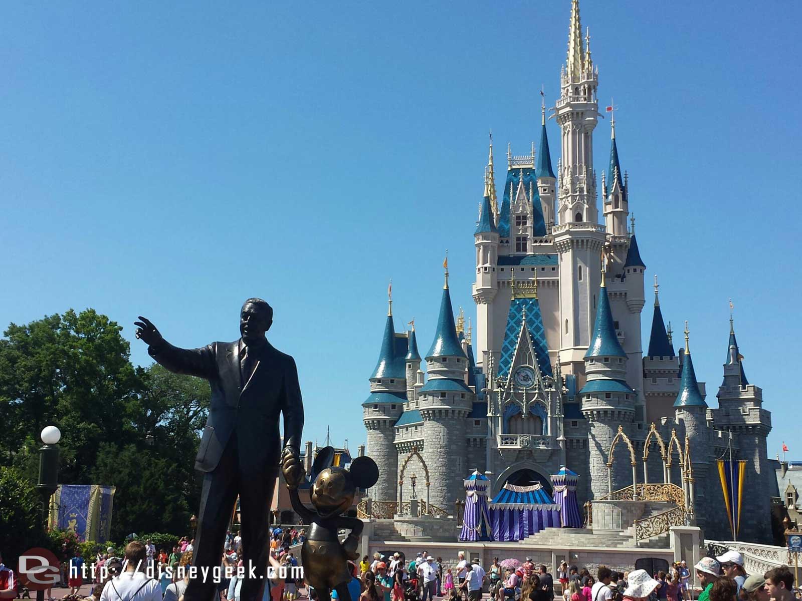 Partners Cinderella Castle #WDW