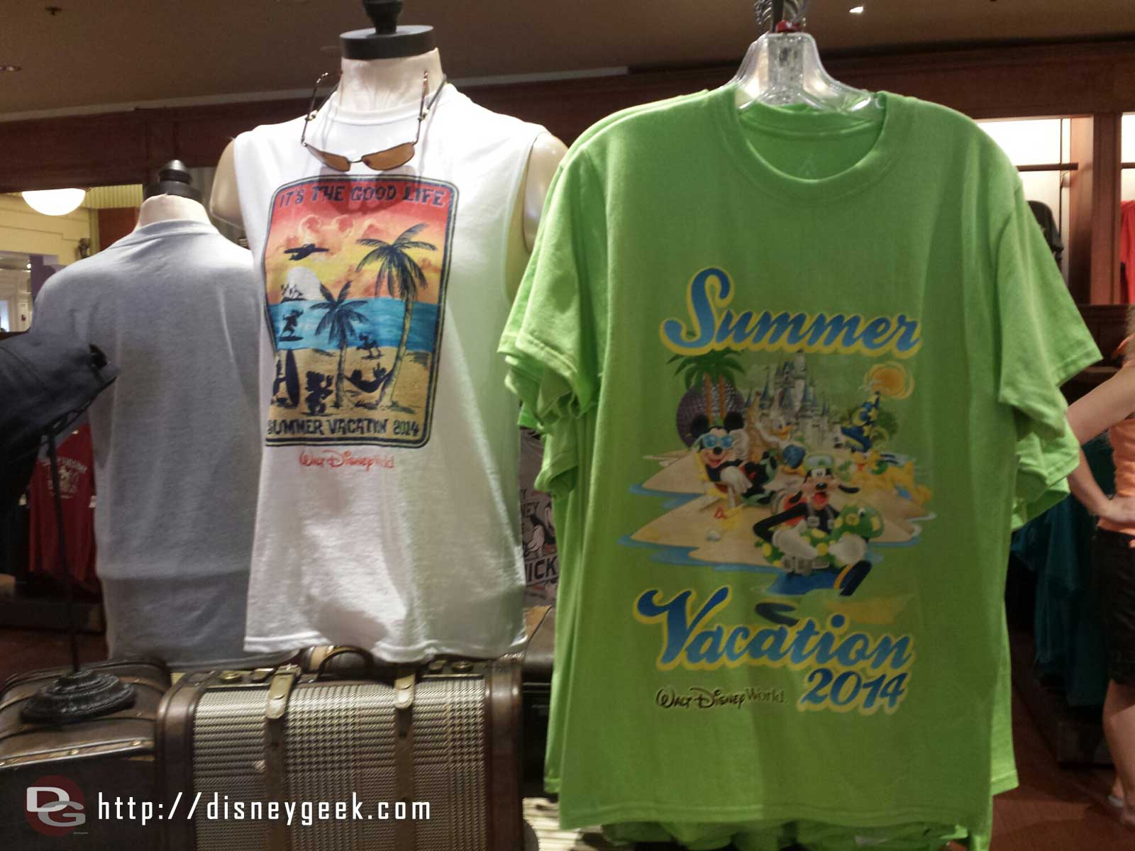 Summer vacation merchandise in the shops already