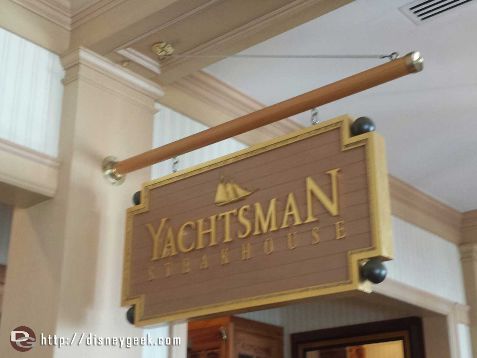 Dinner tonight at the Yachtsman Steakhouse at Disney's Yacht Club Resort