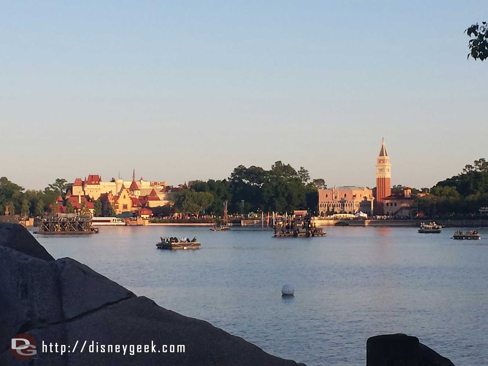 Made it across with a minute to spare.. looking across World Showcase Lagoon