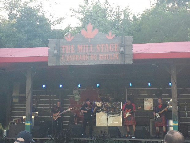 Off Kilter performing on the stage by Canada